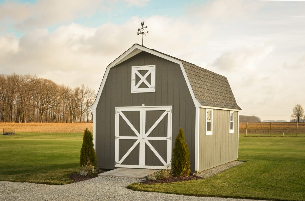A storage shed built in Indiana