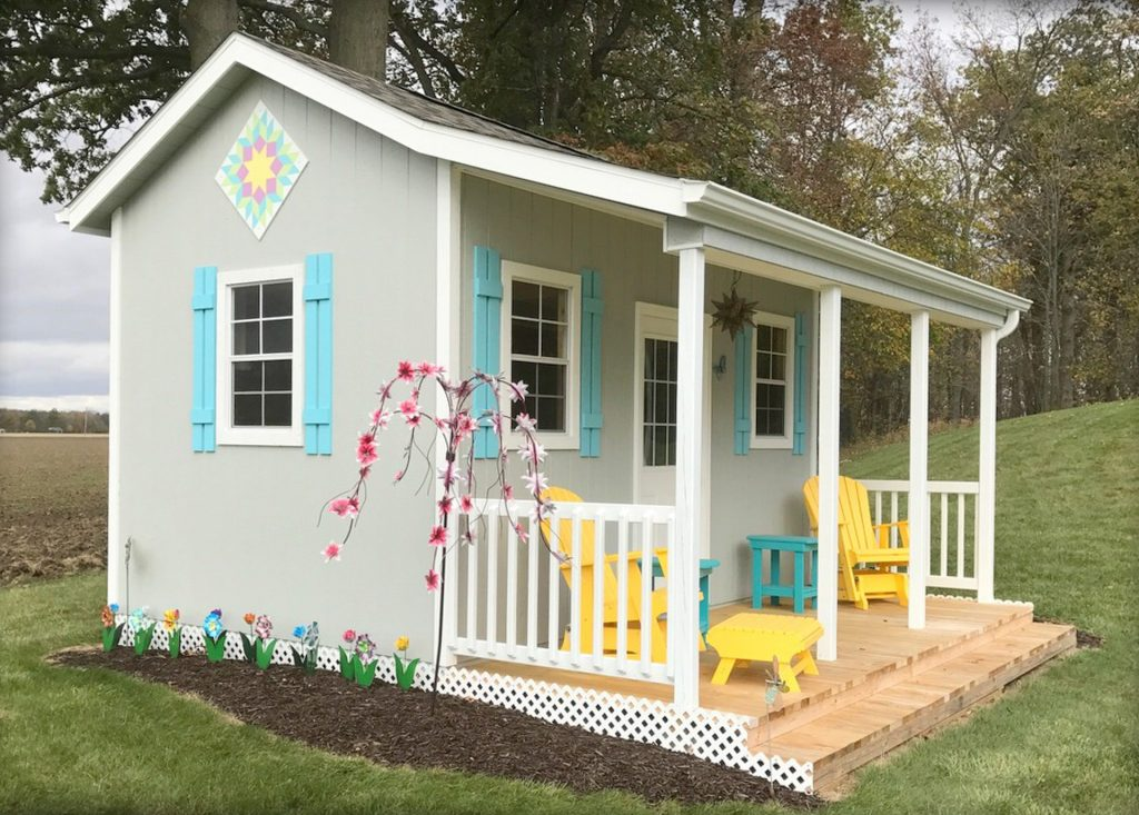 A storage shed by a shed builder with reviews