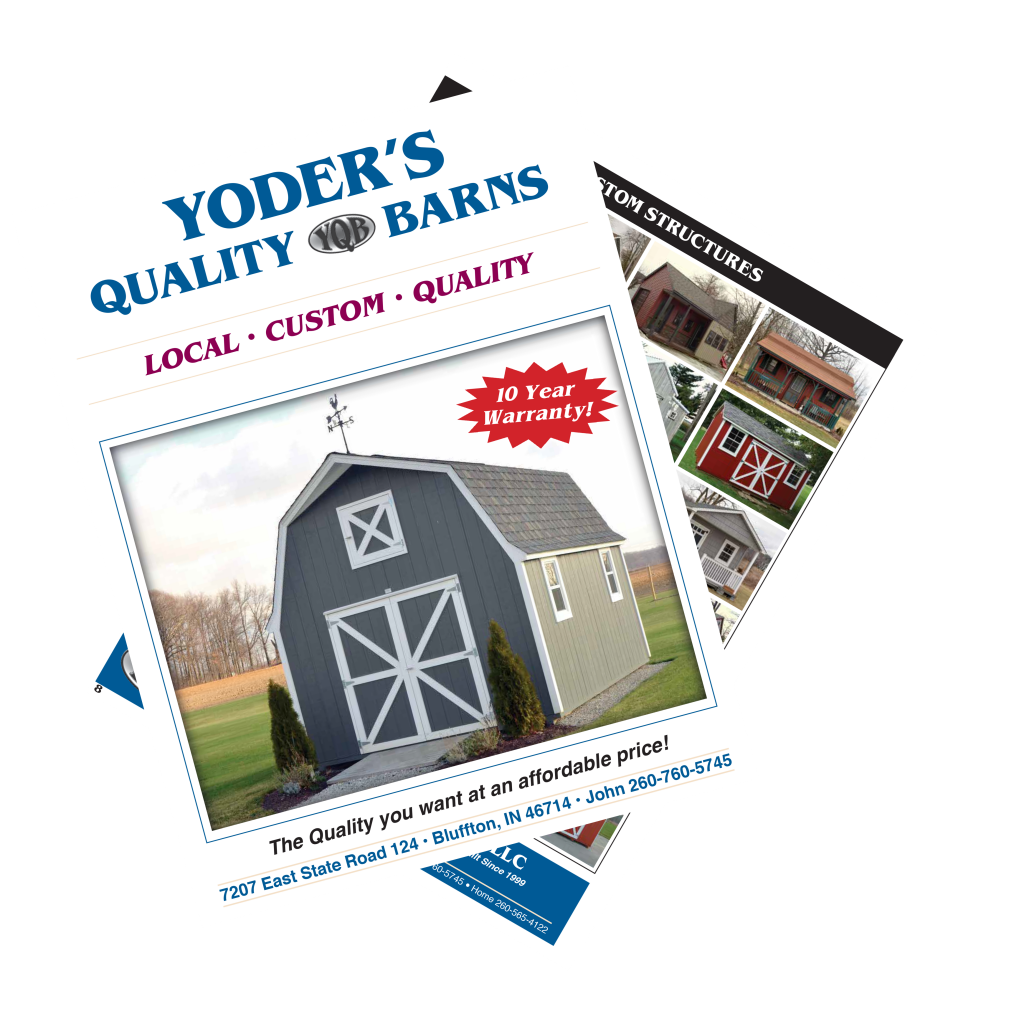 yoder's brochure crooked
