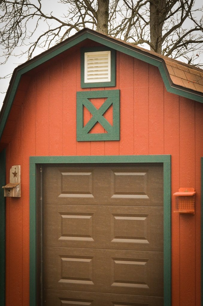 A vent option on a storage shed near Fort Wayne, Indiana