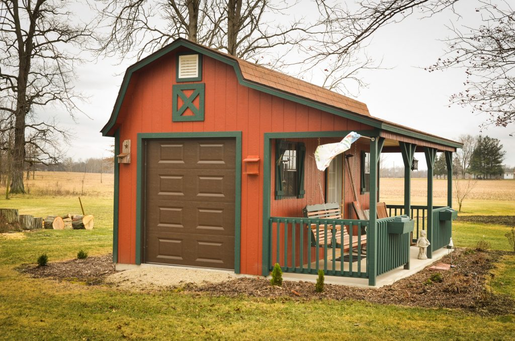 A storage shed with custom options near Fort Wayne, Indiana