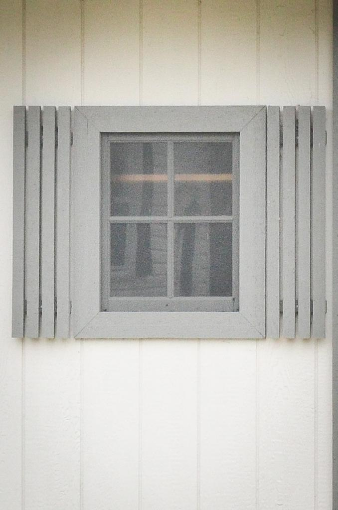 Storage shed window shutters near Fort Wayne, Indiana
