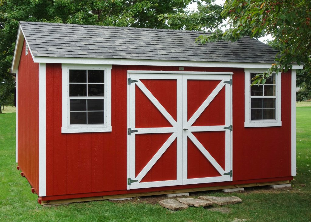 A customized storage shed roof near Fort Wayne, IN