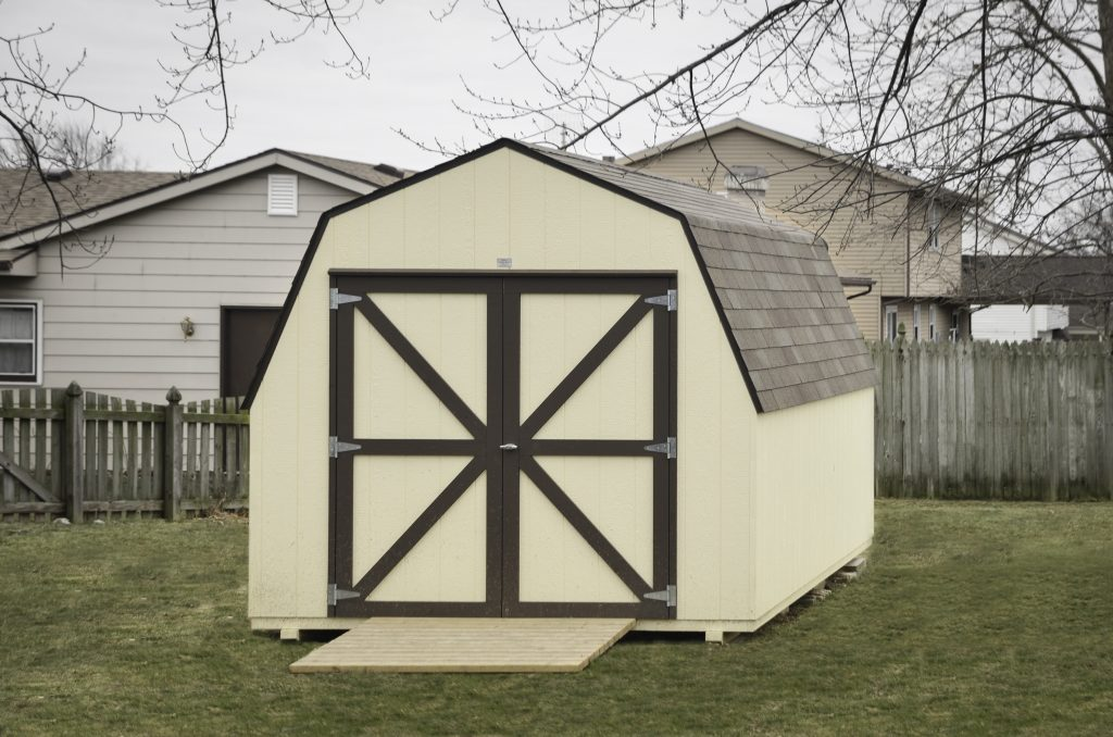 A mini barn storage shed in Indiana