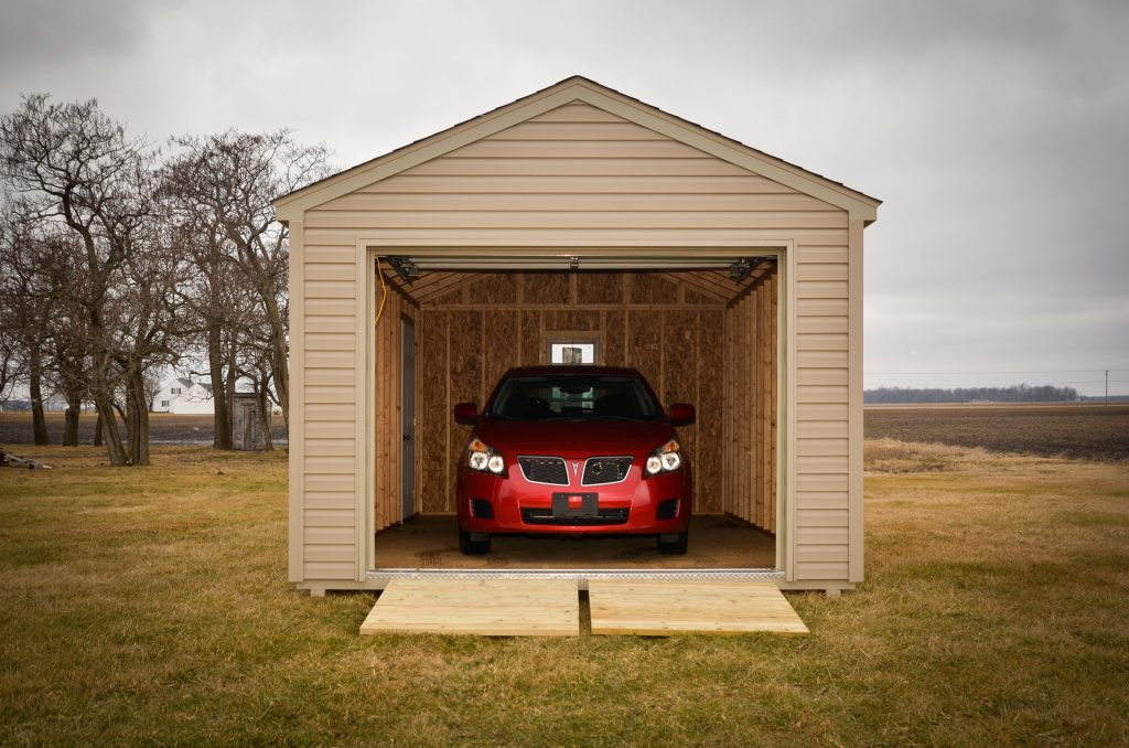 A storage shed garage in Indiana