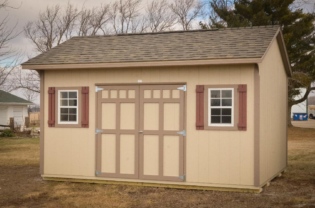 Garden shed builder's finished product in Indiana
