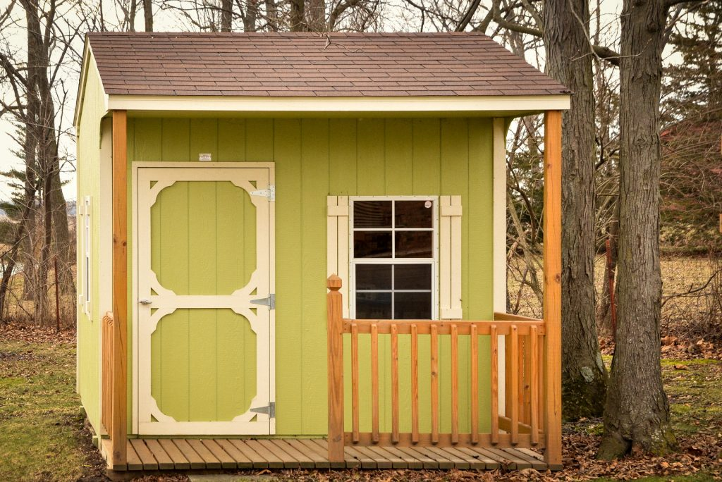 A garden shed built near Fort Wayne, IN
