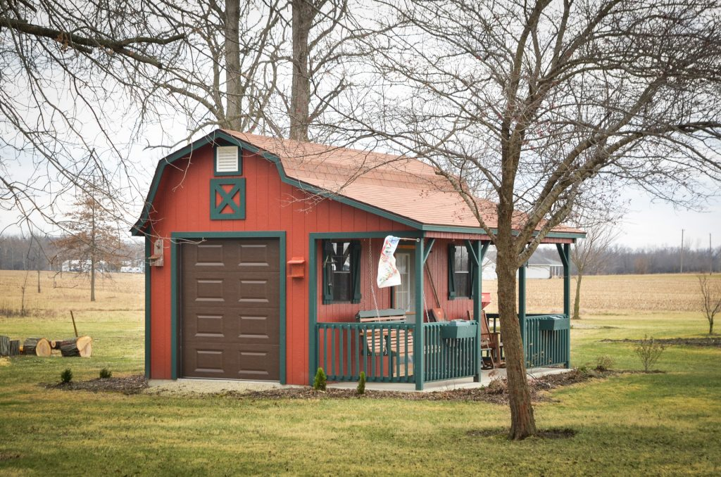A backyard shed for sale in Indiana